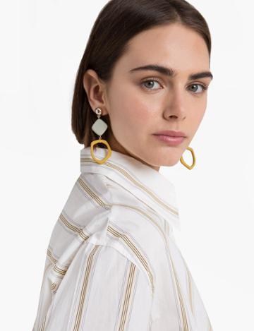Pixie Market Mustard Chandelier Earrings