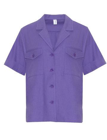 Pixie Market Purple Utility Shirt