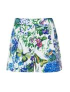 Pixie Market Floral Butterfly Print Shorts