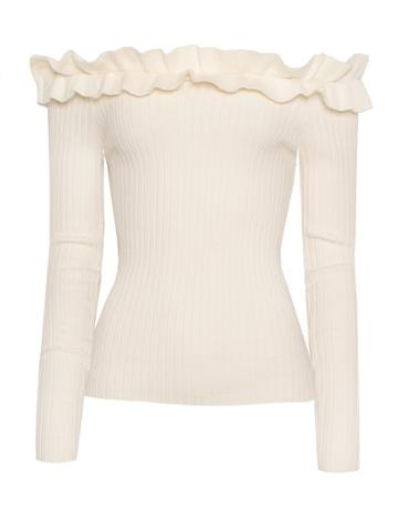 Pixie Market Minou Off The Shoulder Knit Top