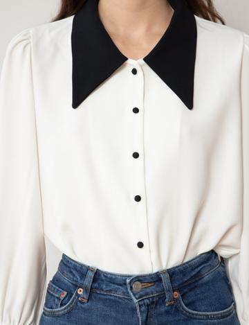 Pixie Market Marie Pointed Collar Blouse