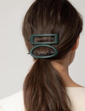 Pixie Market Green Hair Clip Set
