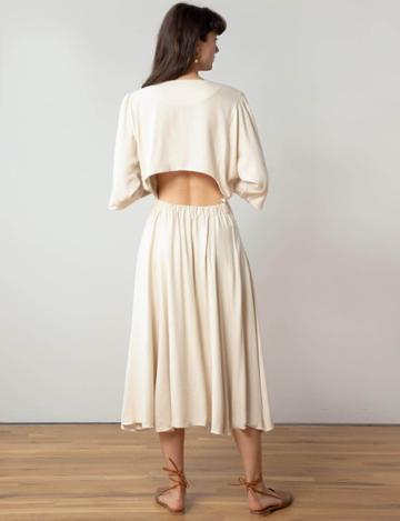 Pixie Market Open Back Maxi Dress