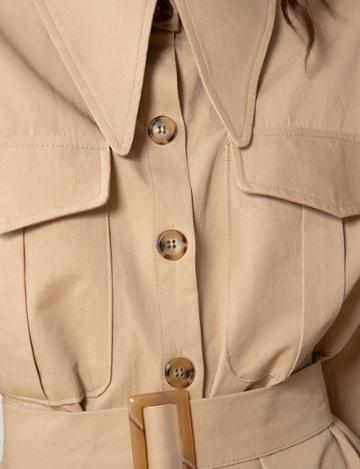 Pixie Market Pointed Collar Shirt Dress