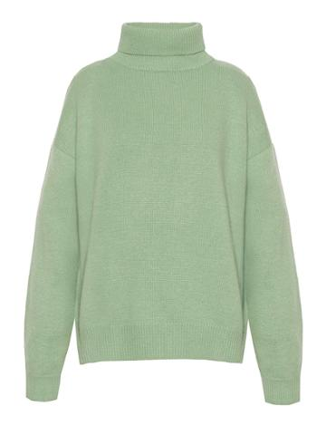 Pixie Market Mint Wool And Cashmere Sweater
