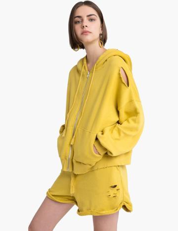 Pixie Market Yellow Mustard Sweat Shorts