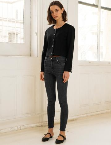 Pixie Market Black Crop Blazer