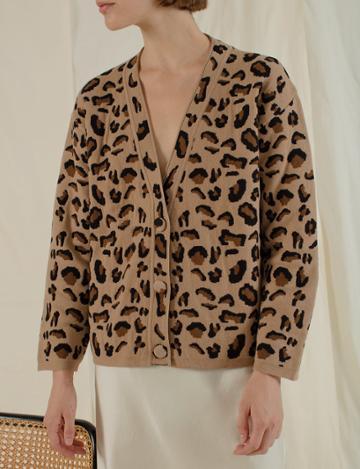 Pixie Market Leopard Cardigan