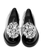 Pixie Market Jeffrey Campbell Ledger Diamond Loafers
