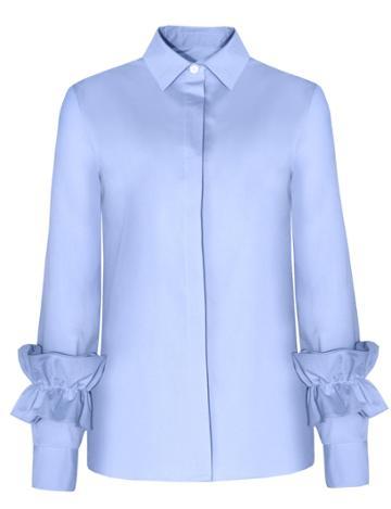 Pixie Market Ruffled Sleeve Cuff Shirt