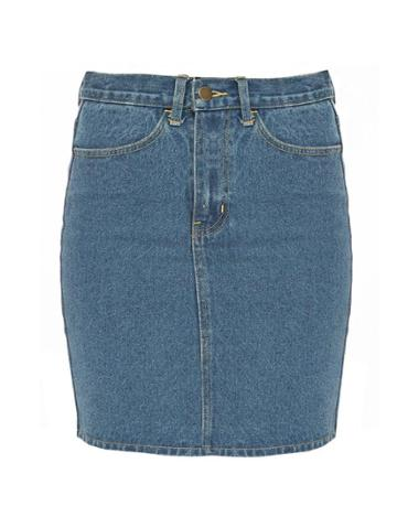 Pixie Market Vintage Denim Mini Skirt