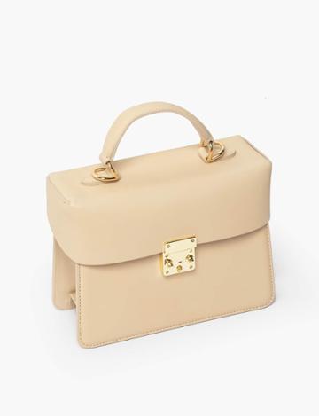 Pixie Market Vanilla Leather Boxy Mini Bag