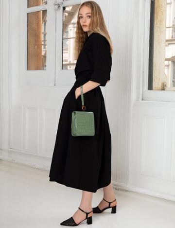 Pixie Market Everyday Black Midi Dress -preorder
