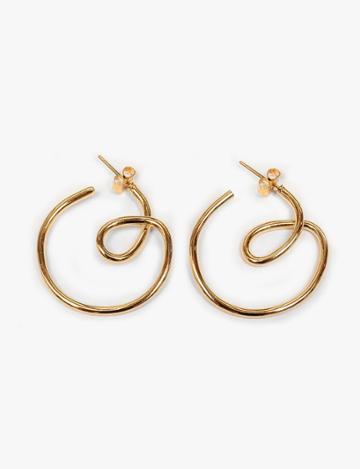 Pixie Market Swirl Hoop Earrings
