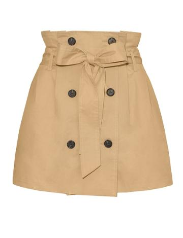 Pixie Market Tan Trench Belted Skirt