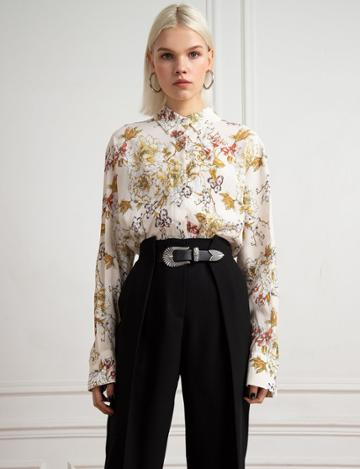 Pixie Market Floral Bloom Blouse