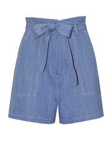 Pixie Market Denim Belted Shorts