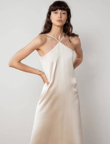 Pixie Market Leticia Halter Silky Dress