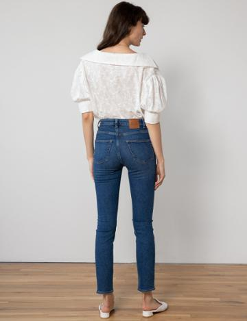 Pixie Market White Floral Embroidered Blouse