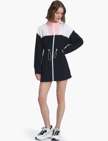 Pixie Market Color Block Raincoat Jacket Dress