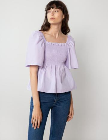 Pixie Market Lilac Smocked Top