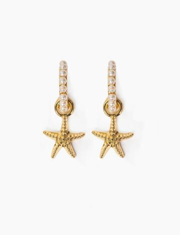 Pixie Market Starfish Pearl Drop Earrings
