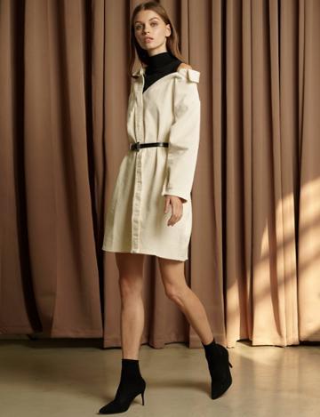 Pixie Market Corduroy Combination Dress