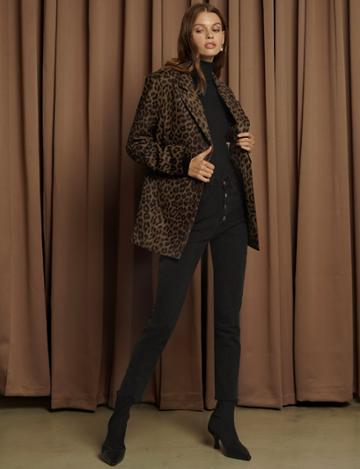 Pixie Market Brown Leopard Blazer