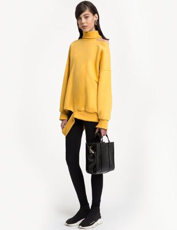 Pixie Market Sven Yellow Cut Out Sweatshirt