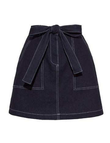 Pixie Market Brooke Contrast Stitch Skirt
