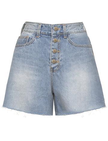 Pixie Market Multi Button Denim Shorts