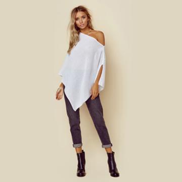 Minnie Rose Cotton Mesh Ruana Outerwear