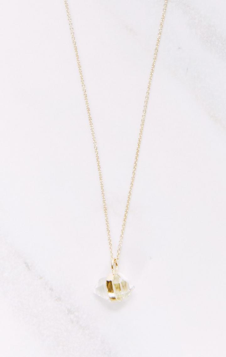 Planet Blue Herkimer Pendant Necklace