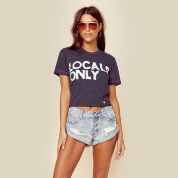 Aviator Nation Locals Only Cropped Tee