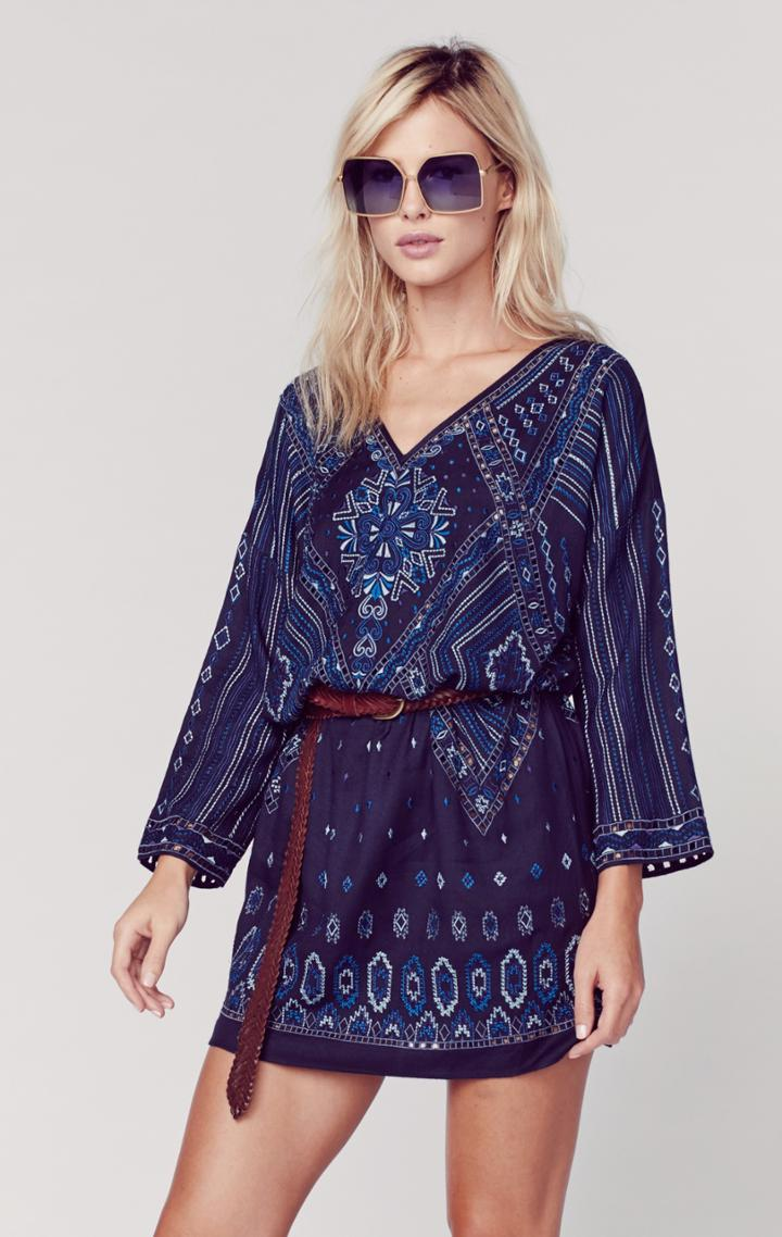 Planet Blue Yucatec Rayon Dress