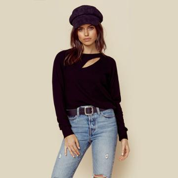 Lna Clothing Brushed Phased Top Outerwear