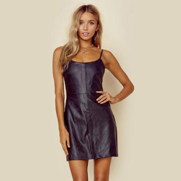 Minkpink Frankie Faux Leather Mini Dress Dresses