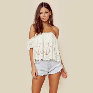 Tularosa Amelia Crop Top  Tops
