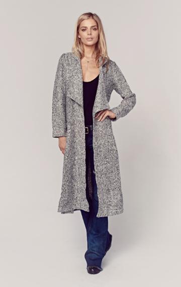 Planet Blue Wool Duster Coat