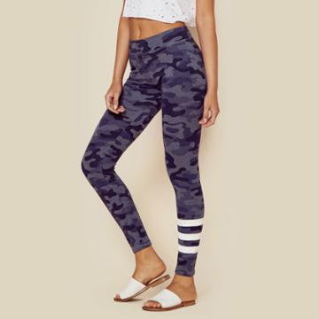 Sundry Camo Yoga Pant With Stripes