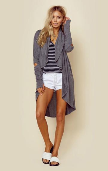Lna Clothing Open Elbow Cardigan Outerwear