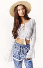 Planet Blue Bella Cropped Top