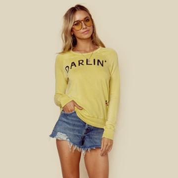 Sundry Darlin' Crop Pullover Outerwear