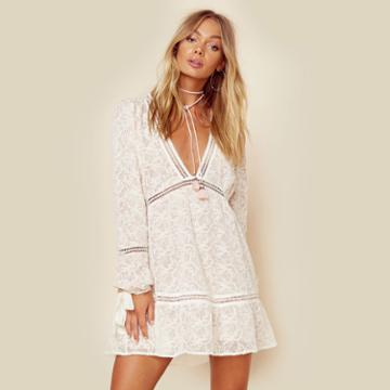 For Love And Lemons Sweet Disposition Swing Dress