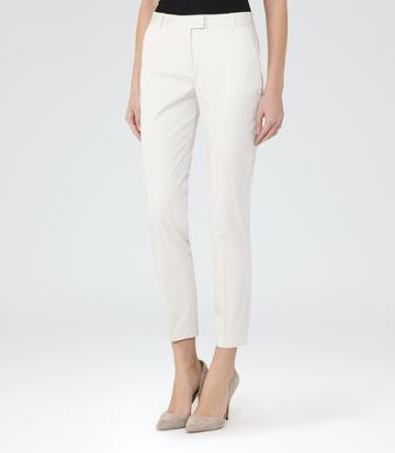 Reiss Atlas - Womens Slim-leg Trousers In Brown, Size 4