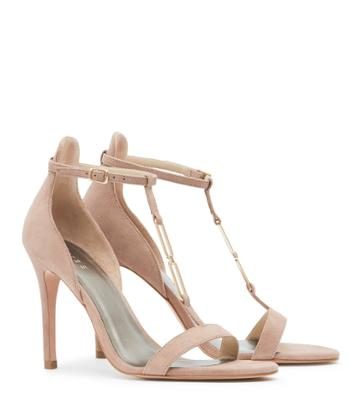 Reiss Aris - Womens Metal-detail Sandals In Pink, Size 3