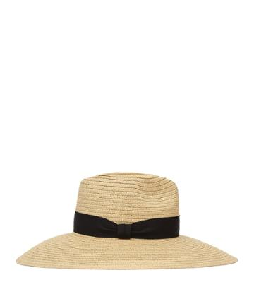 Reiss Constance - Womens Wide-brimmed Straw Hat In White, Size S/m