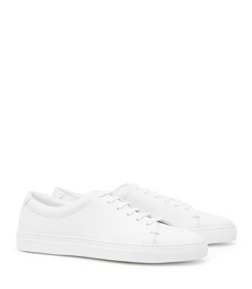 Reiss Darma - Womens Leather Sneakers In White, Size 3