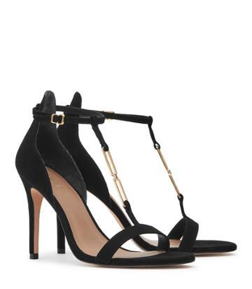 Reiss Aris - Womens Metal-detail Sandals In Black, Size 3