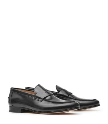 Reiss Wilton - Mens Leather Penny Loafers In Black, Size 7